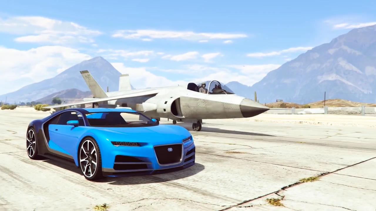 GTA5汽车VS战斗机~猜猜谁更快